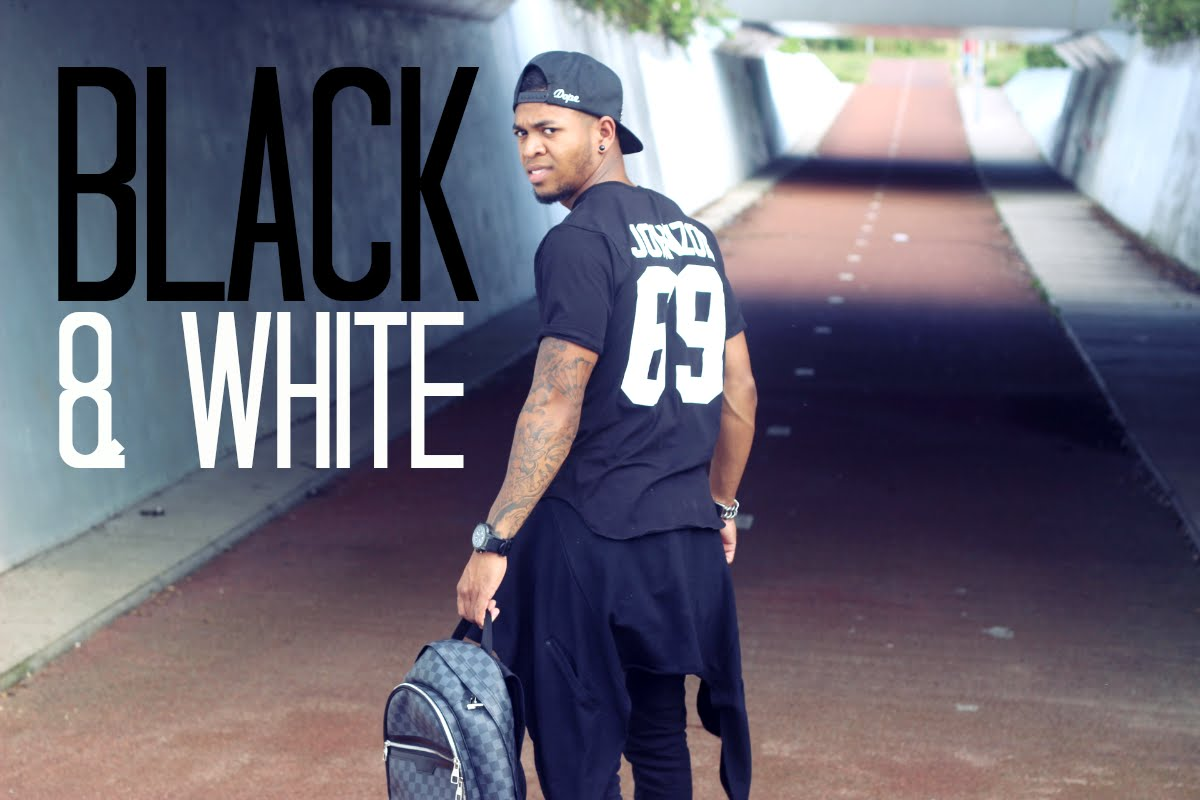 Men's Fashion-Black and White Outfit of the Day