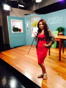 Mellisa in Studio on Set