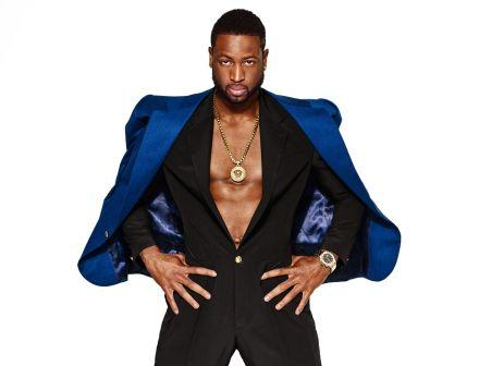 Dwyane Wade Wears Versace Jumpsuit and Gold Medallion for ...