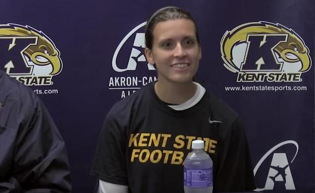 Kent State Football Kicker April Goss
