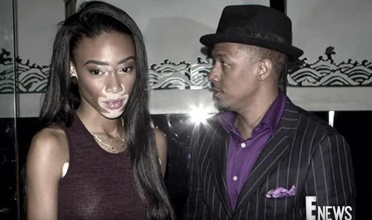 Winnie Harlow and Nick Cannon