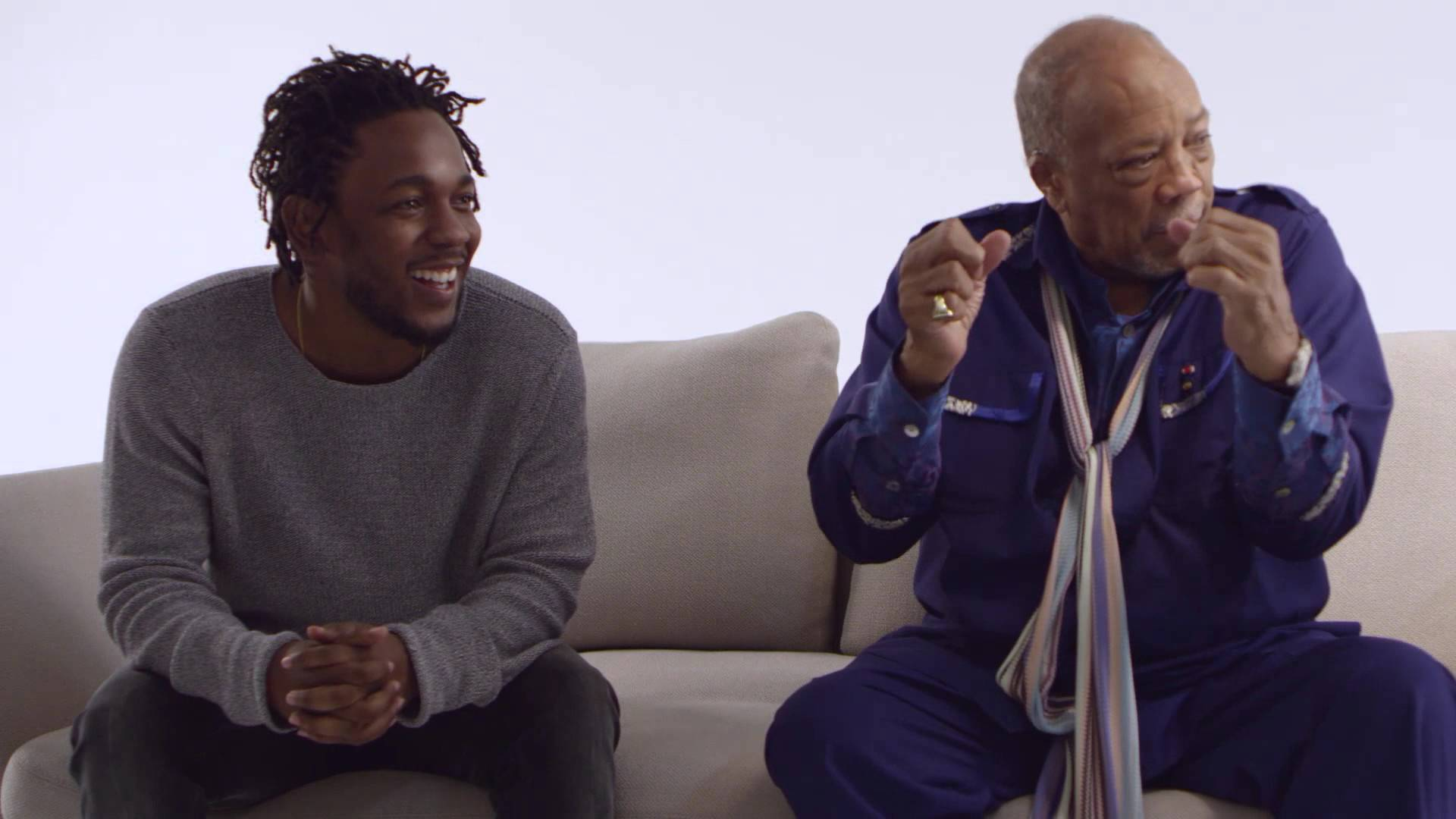 Kendrick Lamar and Quincy Jones Sit Down for an Interview