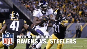 Michael Vick Throws a Block: Running Back Le'Veon Bell Scores Touchdown in Steelers 23-20 Loss to the Ravens