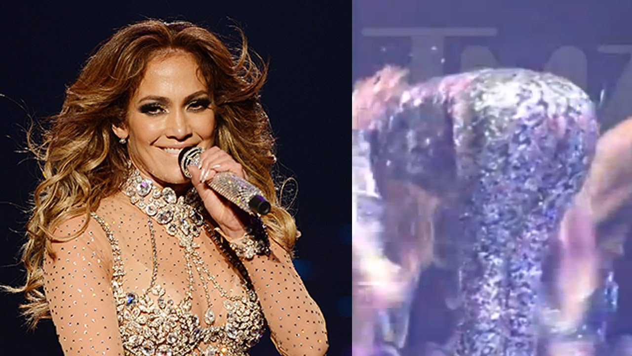 Jennifer Lopez Has a Wardrobe Malfunction During Live Show