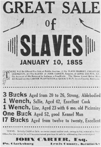 sale of slaves