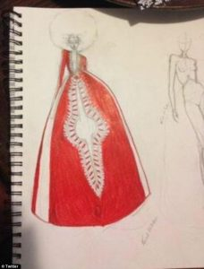 Prom Dress original sketches