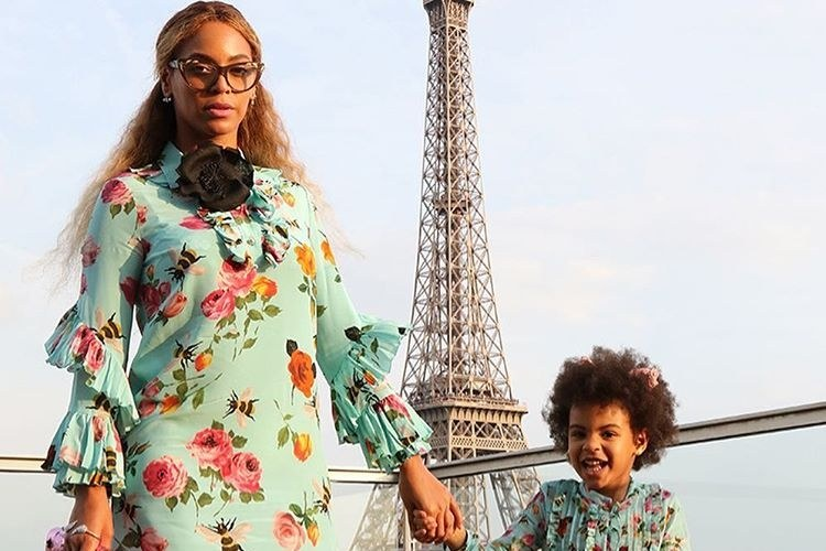 Beyonce and blue Ivy in Gucci
