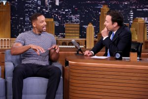 THE TONIGHT SHOW STARRING JIMMY FALLON -- Episode 0510 -- Pictured: (l-r) Actor Will Smith during an interview with host Jimmy Fallon on July 28, 2016 -- (Photo by: Andrew Lipovsky/NBC)