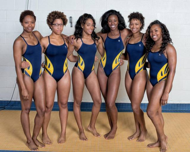 Photo: Kevin Dorsey for ESPN. From left: Miranda Jacobs, Aarica Carrington, Dominique Crable, Victoria Orr, Kenya Dunn and Jade Hill.