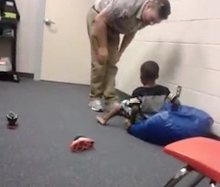 video-of-teacher-pushing-child-at-school
