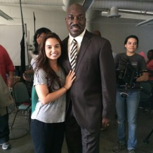 Mellisa on the set