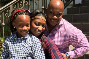 Patrice Washington (center) with husband Gerald and daughter Reagan.Photo: Courtesy of Patrice Washington