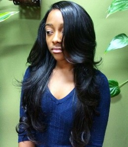 Black Layered Weave