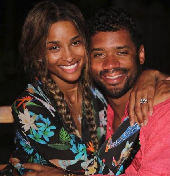 """Russell Wilson Takes A Knee And Proposes To Ciara, """"She"""