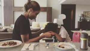 Ciara Teaching Her Son to Say Grace